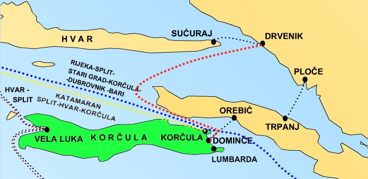 map-how-to-get-to-island-korcula